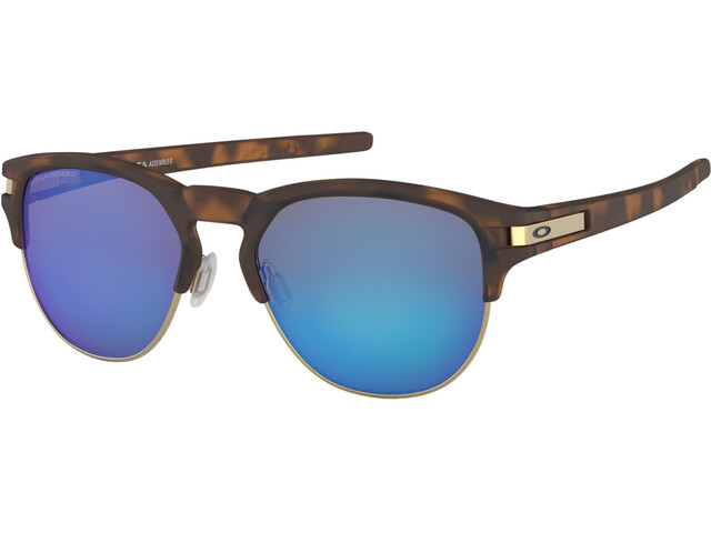 Oakley Latch Key L Sunglasses Matte Brown Tortoise/Sapphire Iridium Polarized